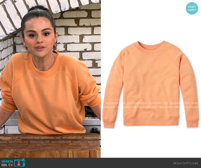 Entireworld Type A Version 3 Sweatshirt in Apricot worn by Selena Gomez  on Selena + Chef