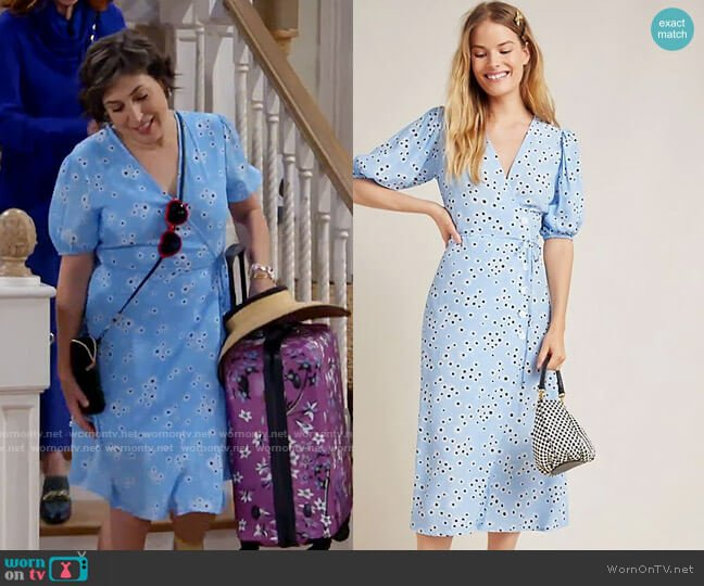 Faithfull the Brand Marta Dress in Riviera Essa Floral worn by Kat Silver (Mayim Bialik) on Call Me Kat