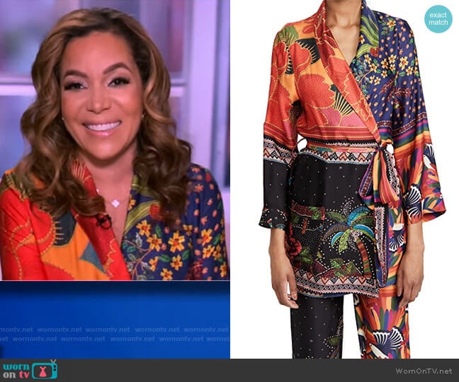 Mix Scarves Kimono by FARM Rio worn by Sunny Hostin  on The View