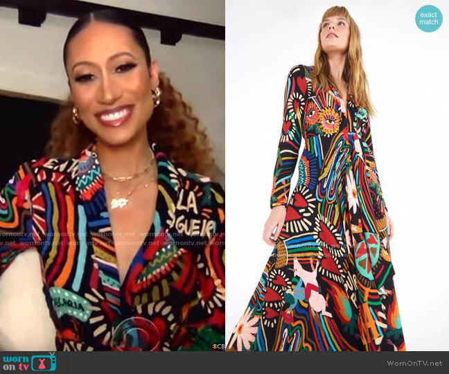 Farm Rio Winter Carnival Dress worn by Elaine Welteroth on CBS This Morning