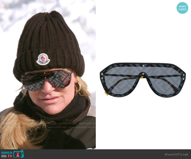 Fabulous Printed Aviator Sunglasses by Fendi worn by Heather Gay  on The Real Housewives of Salt Lake City