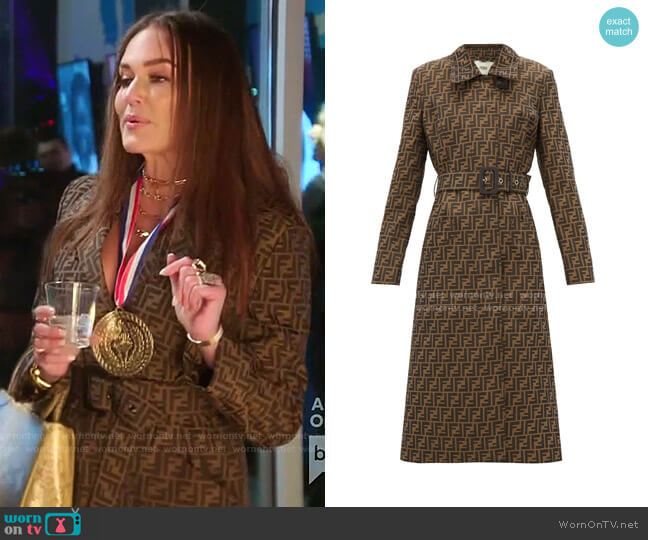 Soprabito Ff Trench Coat by Fendi worn by Meredith Marks  on The Real Housewives of Salt Lake City