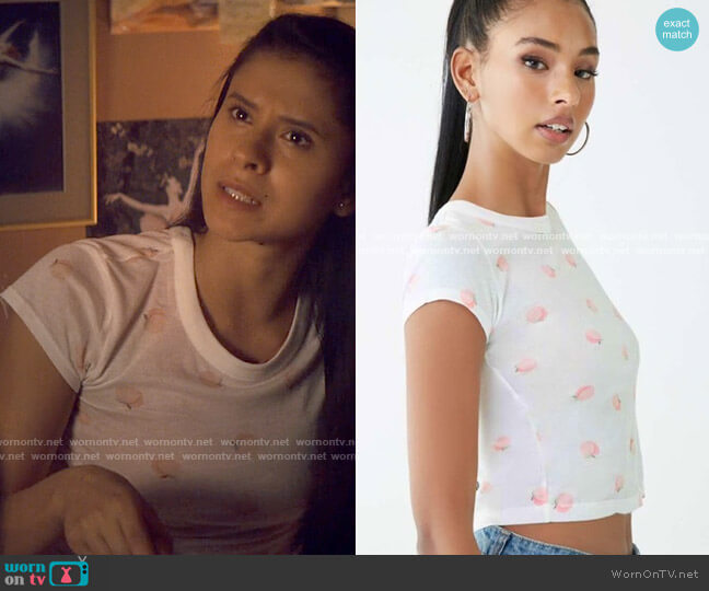 Forever 21 Peach Top worn by June Park (Daniela Norman) on Tiny Pretty Things