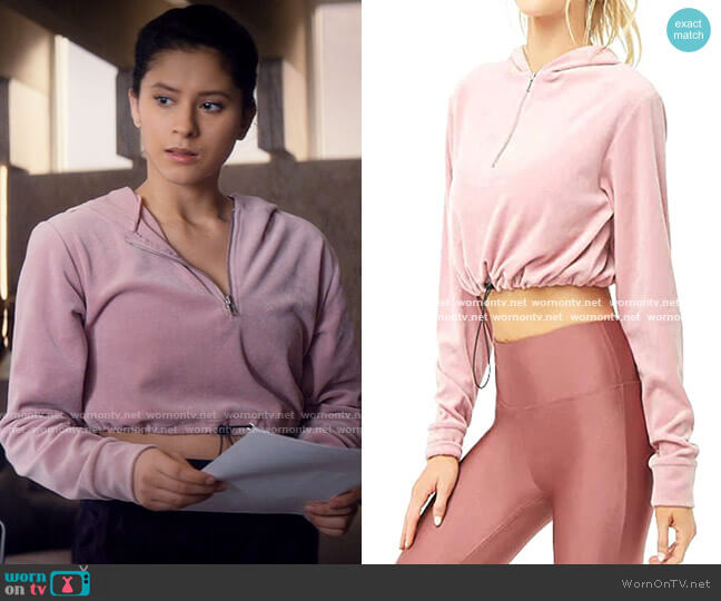 Forever 21 Crop Hoodie worn by June Park (Daniela Norman) on Tiny Pretty Things