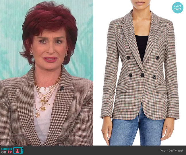 70s Blazer by Frame worn by Sharon Osbourne  on The Talk