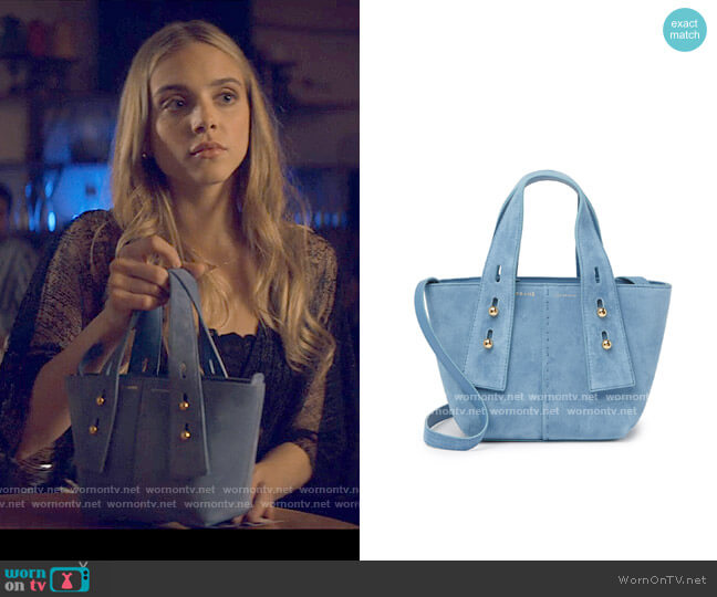 Frame Les Second Suede Mini Tote Bag worn by Bette Whitlaw (Casimere Jollette) on Tiny Pretty Things