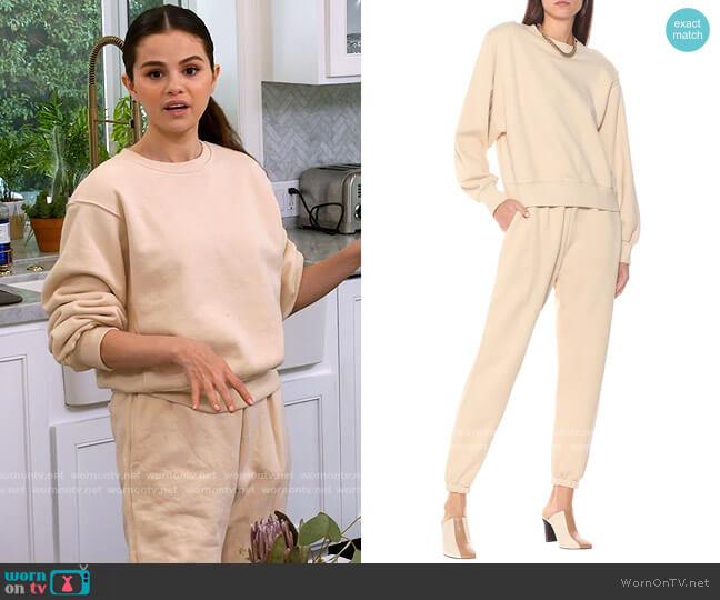 Frankie Shop Vanessa Sweatshirt and Track Pants worn by Selena Gomez  on Selena + Chef