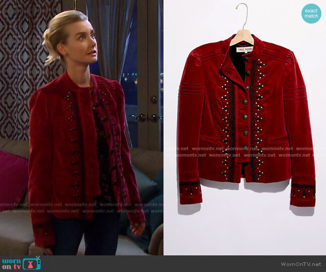 Maven Pintuck Jacket by Free People worn by Claire Brady (Isabel Durant ) on Days of our Lives