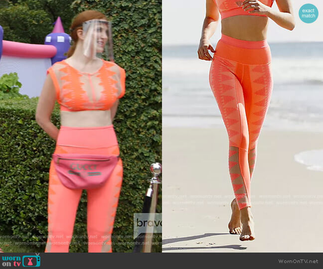 High-Rise 7/8 Riptide Legging by Free People worn by Jennifer Davis Long  on The Real Housewives of Dallas
