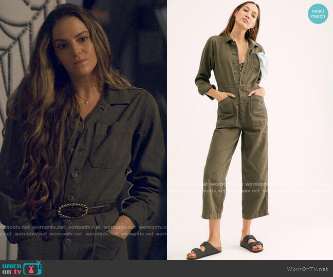 Free People Gia Coveralls worn by Delia Whitelaw (Tory Trowbridge) on Tiny Pretty Things