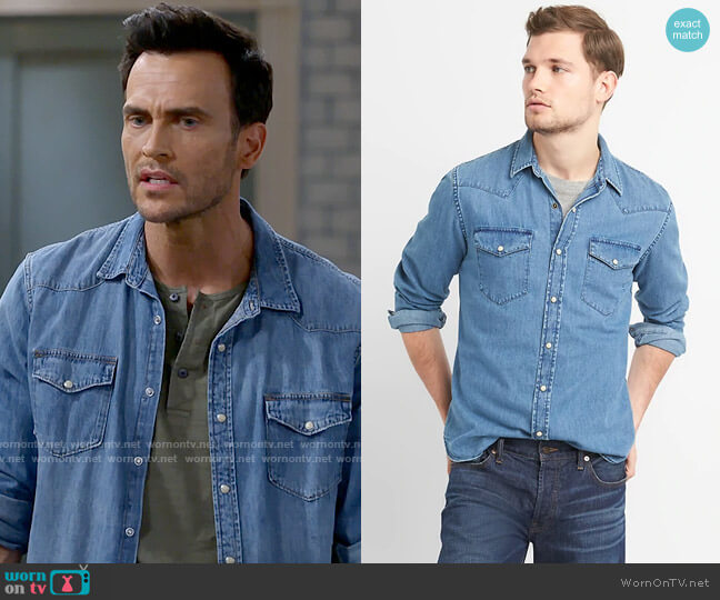 Gap Denim Western Shirt worn by Max (Cheyenne Jackson) on Call Me Kat