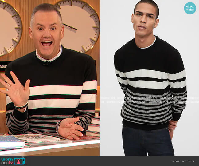 Mainstay Sweater by Gap worn by Ross Mathews on The Drew Barrymore Show
