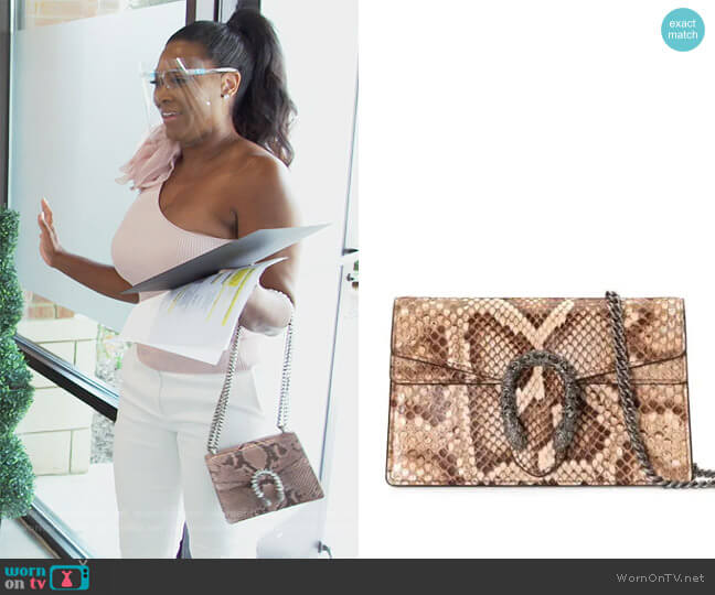 Dionysus mini bag by Gucci worn by Kenya Moore  on The Real Housewives of Atlanta
