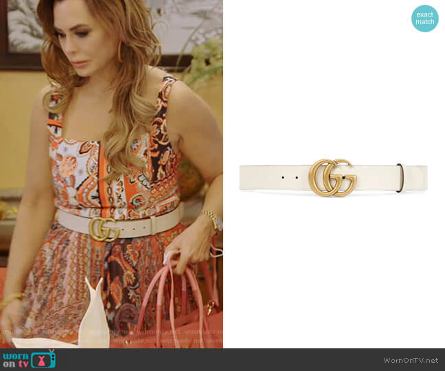 Double G Buckle Belt by Gucci worn by D'Andra Simmons  on The Real Housewives of Dallas