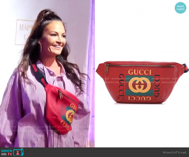 Retro GG Logo Belt Bag by Gucci worn by Lisa Barlow  on The Real Housewives of Salt Lake City