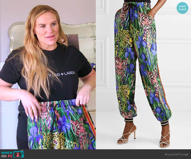 Printed Track Pants by Gucci worn by Heather Gay  on The Real Housewives of Salt Lake City