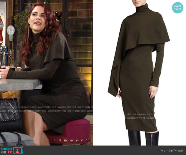 Halston Layla Dress worn by Sally Spectra (Courtney Hope) on The Young & the Restless