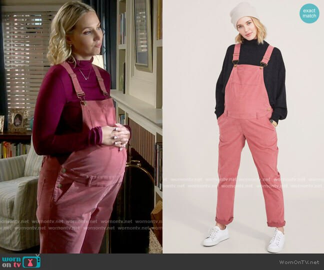 Hatch The Cord Overall worn by Mandy Baxter (Molly McCook) on Last Man Standing