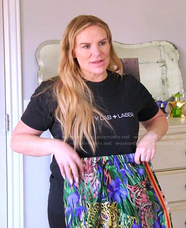 Lisa's black moto jacket and lilac satin pants on The Real Housewives of Salt Lake City