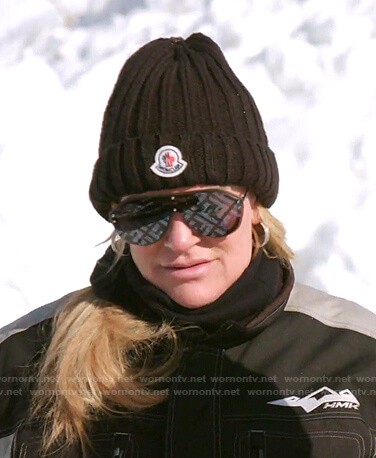 Heather's black beanie and Fendi sunglasses on The Real Housewives of Salt Lake City