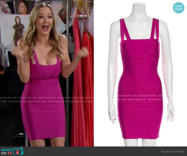 Herve Leger Double-Strap Bandage Dress worn by Donna Logan (Jennifer Gareis) on The Bold & the Beautiful