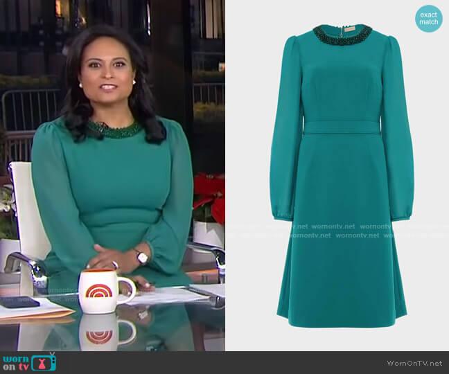 Jada Beaded Dress by Hobbs London worn by Kristen Welker  on Today