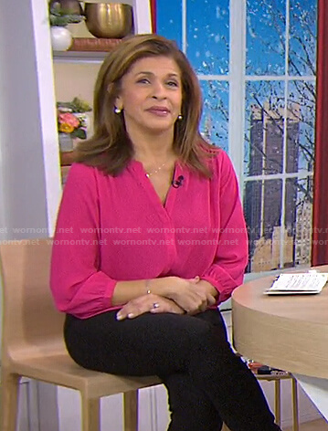 Hoda's pink blouse on Today