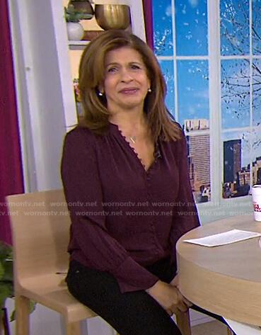 Hoda's purple blouse on Today