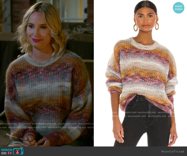 IRO Maroja Sweater worn by Mandy Baxter (Molly McCook) on Last Man Standing