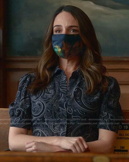 Izzy's paisley print shirtdress on Bull
