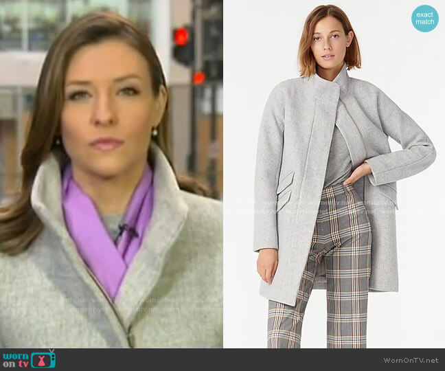 Cocoon coat in Italian stadium by J. Crew worn by Mary Bruce  on Good Morning America