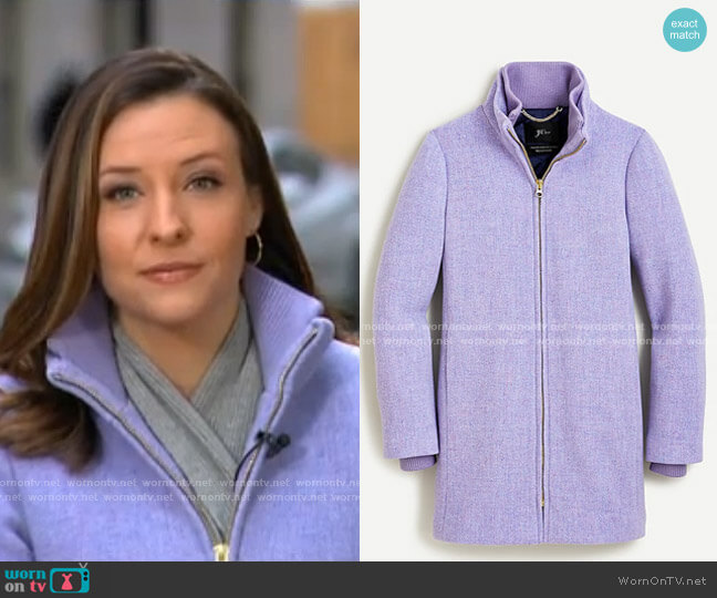 Lodge Coat by J. Crew worn by Mary Bruce  on Good Morning America