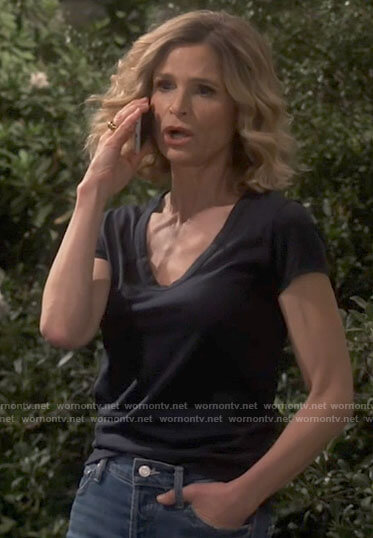 Jean's black tee on Call Your Mother