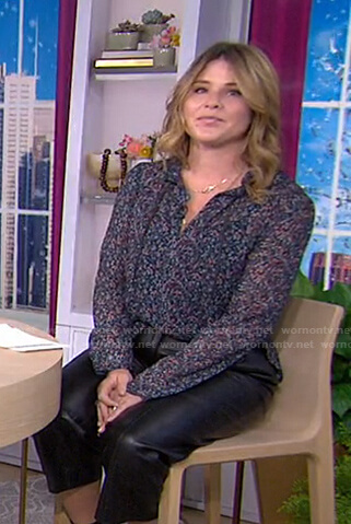 Jenna's printed tie neck blouse on Today