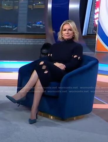 Jennifer's cutout ribbed knit dress on Good Morning America