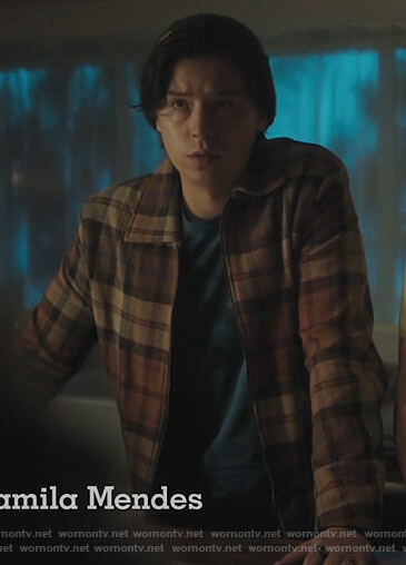 Jughead's brown plaid shirt on Riverdale