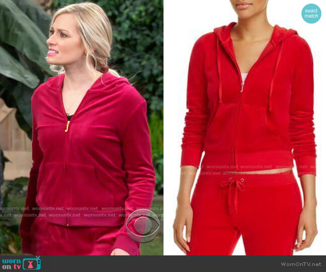 Juicy Couture Robertson Jacket worn by Gemma (Beth Behrs) on The Neighborhood