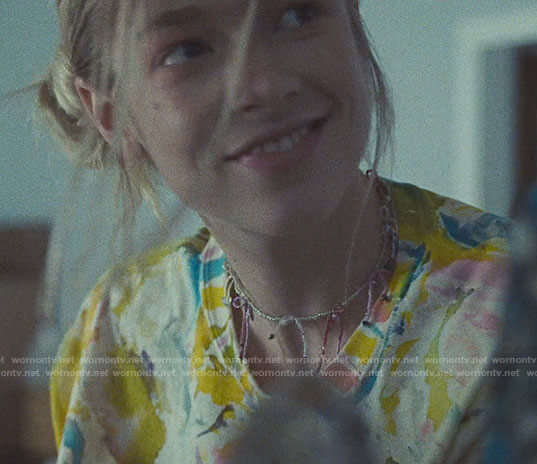 Jules's paint splatter sweatshirt on Euphoria