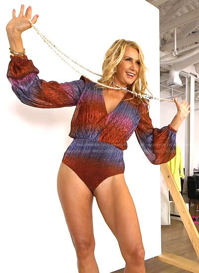 Kary's lurex bodysuit on The Real Housewives of Dallas