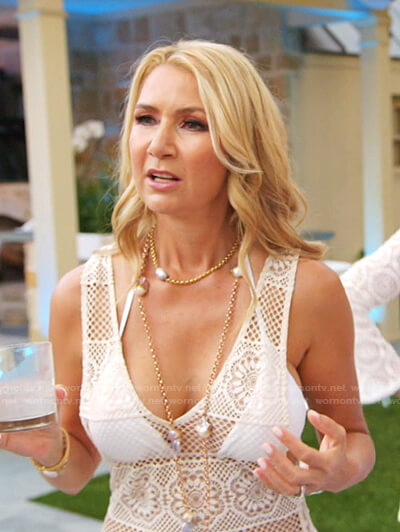 Kary's lace cover-up on The Real Housewives of Dallas