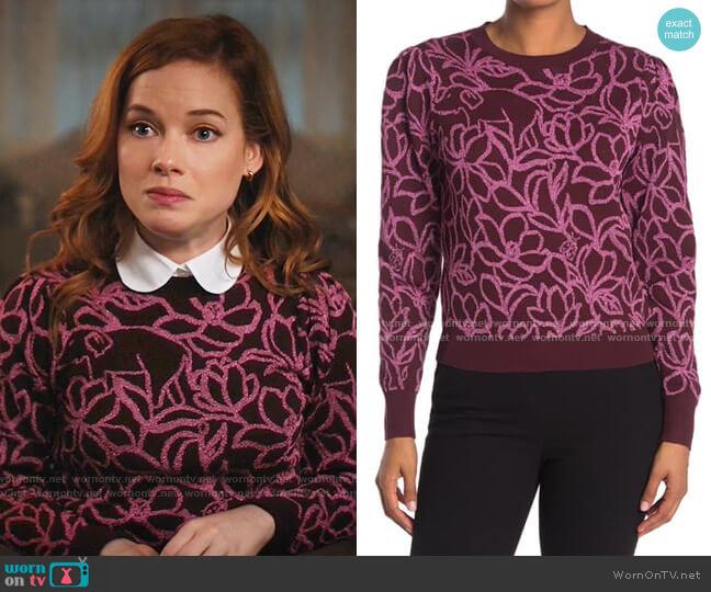 Scribble Flora Sweater by Kate Spade worn by Zoey Clarke (Jane Levy) on Zoeys Extraordinary Playlist