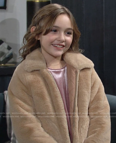 Katie's fur jacket on The Young and the Restless