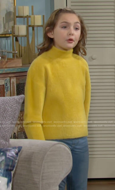 Katie's yellow sweater on The Young and the Restless