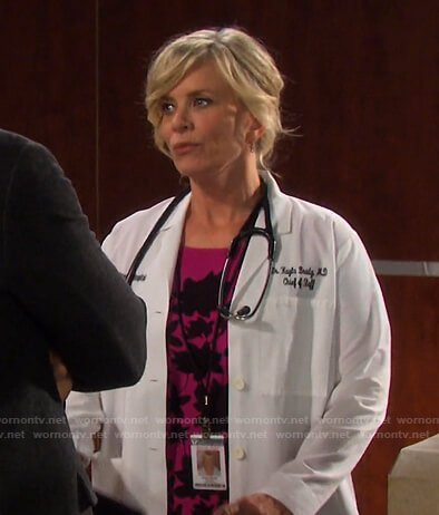 Kayla's pink floral lace dress on Days of our Lives
