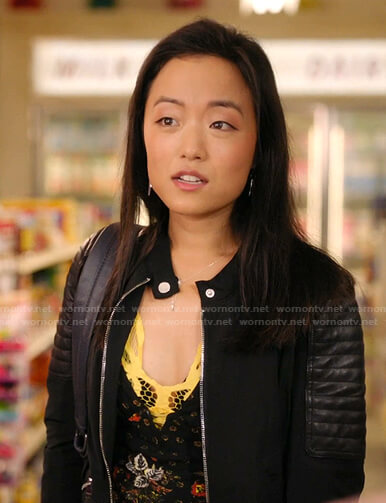 Janet's yellow lace bra on Kims Convenience