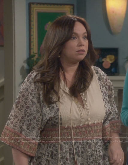 Kristin's floral dress with shells on Last Man Standing