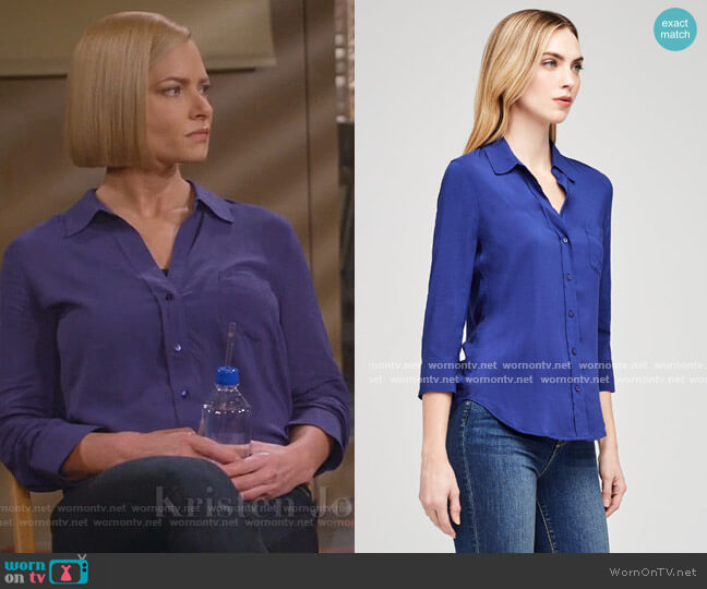 Ryan Blouse by L'Agence worn by Jill Kendall (Jaime Pressly) on Mom