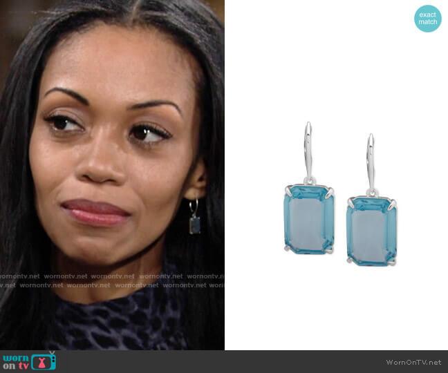 LAUREN Ralph Lauren Stone Drop Earrings worn by Amanda Sinclair (Mishael Morgan) on The Young & the Restless