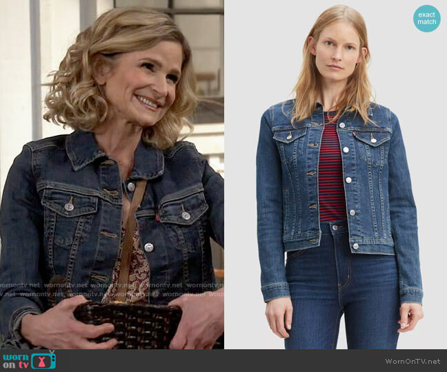 Levis Original Trucker Jacket in Sweet Jane worn by Jean Raines (Kyra Sedgwick) on Call Your Mother