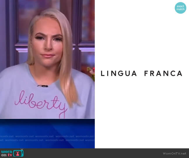 Liberty sweater by Lingua Franca worn by Meghan McCain  on The View